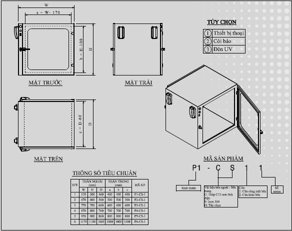 bản vẽ kỹ thuật hộp chuyển mẫu pass box