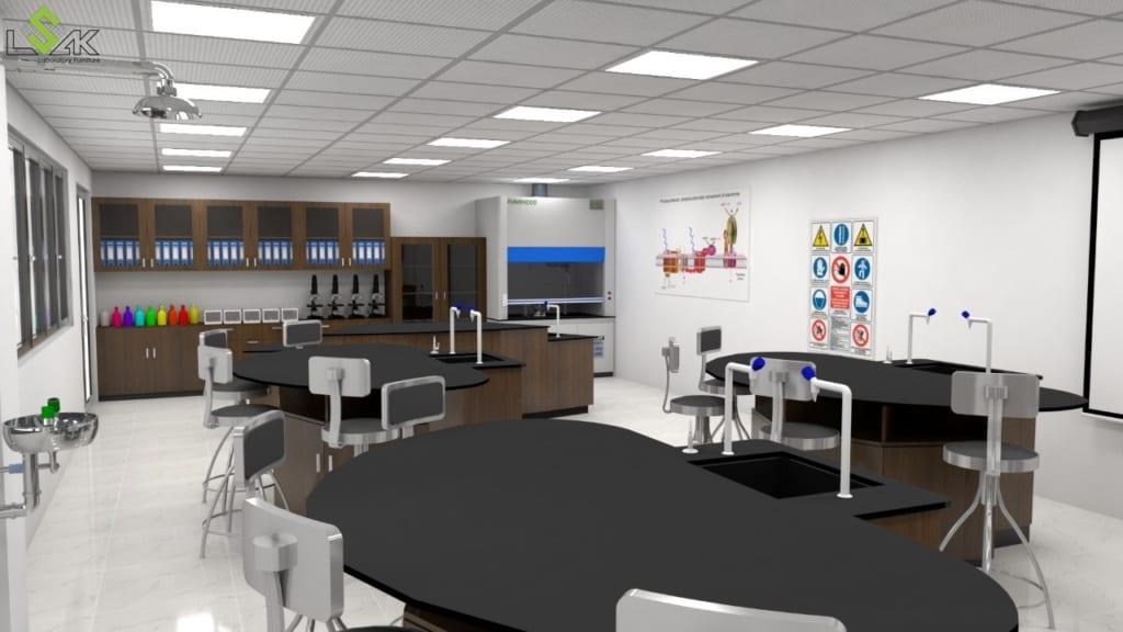 Thiết kế phòng thí nghiệm trường học quốc tế
