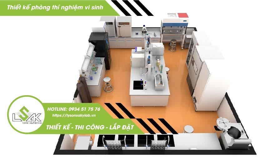 Thiết kế phòng thí nghiệm vi sinh